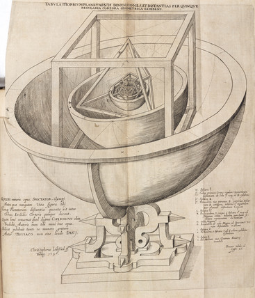 Kepler's model of the universe, 1619.