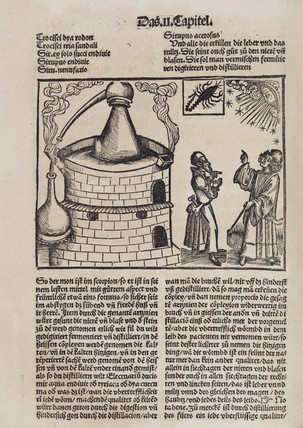 Distillation still and astrologers, 1512.