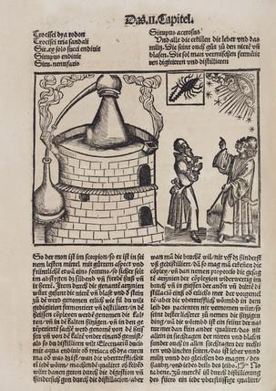 Distillation still and astrologers, 1512.