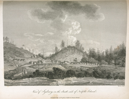 'View of Sydney on the South side of Norfolk Island', 1798.