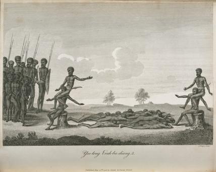 Aboriginal boys' initiation ritual, Australia, 1798.