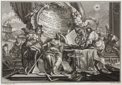 Engraved allegorical title page, 1745.