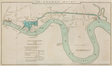 London Docks on the River Thames, 1796.