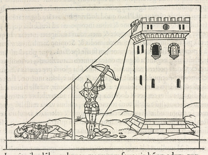 Method for determining the height of a tower by measuring the shadow, 1534.