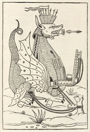 Dragon-shaped war machine, 1534.