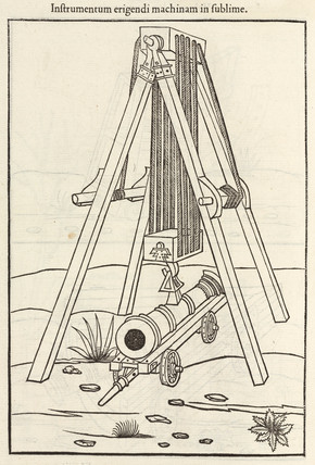 Hoist for a cannon, 1534.