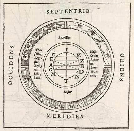 Compass rose, 1534.