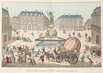 Return of Charles and Robert's balloon, France, 2 December 1783.