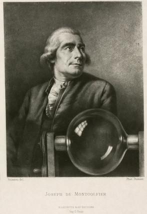 Joseph-Michel Montgolfier, French balloonist, late 18th century.