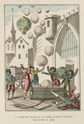 'The box of balloons, or, The frightened customs asistants', 1784.