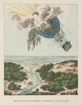 Death of Pilatre de Rozier, 15 June 1785.