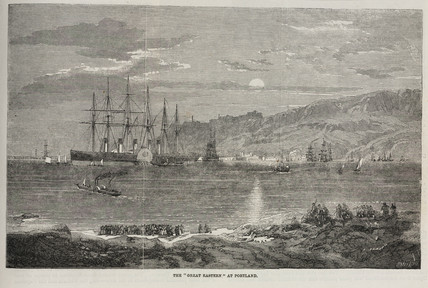 'Great Eastern' steam ship at Portland, c 1859.