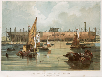 'The Great Eastern on the stocks', Millwall, London, 1853-1858.
