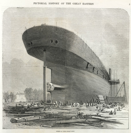 Stern of the 'Great Eastern', c 1858.