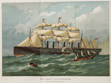'The Great Eastern on the ocean', c 1859.
