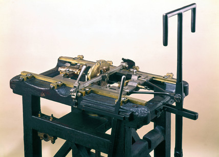Bramah sawing machine, c 1788.