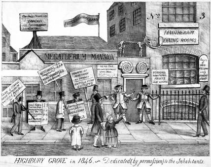'Highbury Grove in 1846'.