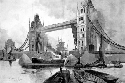 Tower Bridge complete, 1894