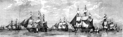 British fleet at Spithead, 1853.