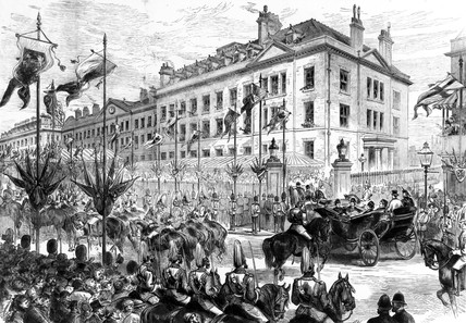 Royal visit to the London Hospital, 1876.