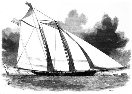 Schooner yacht  'America', 1851.