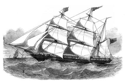 Aberdeen clipper-barque, 1852.