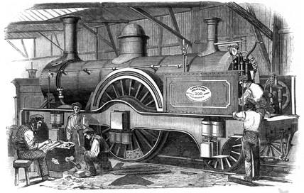 LNWR locomotive, 1852.