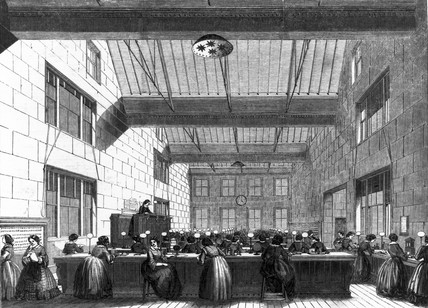 Electric and International Telegraph Company office, London, 1859.