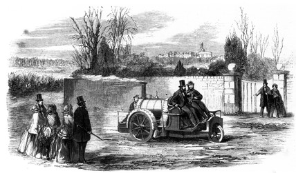 Steam carriage, 1860.