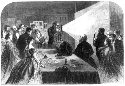 Photography with magnesium light, Birmingham, 1865.