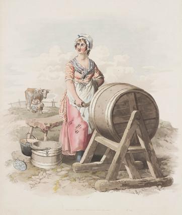 'Woman Churning Butter', 1808.