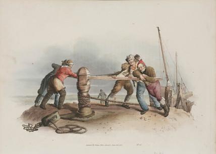 'Fishermen at a Capstan', 1808.