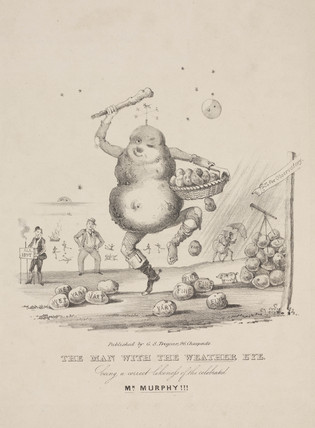 "Caricature of Murphy entitled ""The Man with the Weather Eye"""