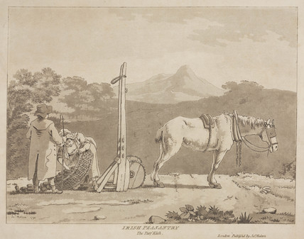 'Irish Peasantry, the Turf Kish', 1790.