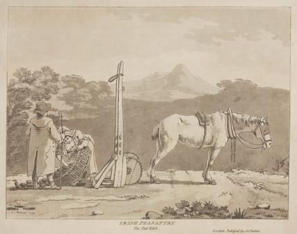 'Irish Peasantry, the Turf Kish', 1790.
