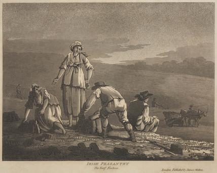 'Irish Peasantry, the Turf Footers', 1790.