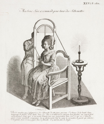 Instrument for tracing silhouettes, 18th century.