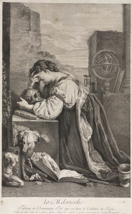 'Melancholy', a lamenting woman, late 16th or early 17th century.