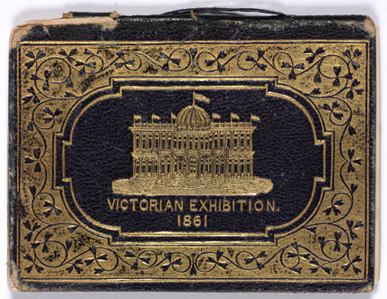 Season ticket to the Victorian Exhibition, Melbourne, Australia, 1861.