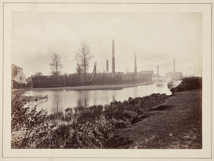 The Perkin factory at Greenford Green, Middlesex, c 1870.
