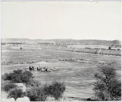 'North side of dam', Aswan, Egypt, September 1901.