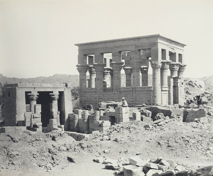 Ancient Egyptian temple, c 1900.