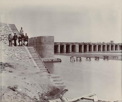 Construction site, Egypt, c 1900.