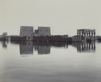 Flooded temples on the River Nile at Philae, Egypt, c 1900.