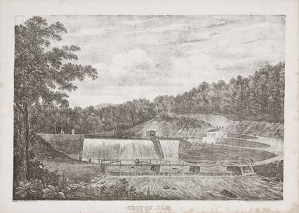 Croton Dam, New York, United States, mid 19th century.