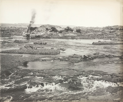 'Central channel sudds', Aswan, Egypt, January 1900.
