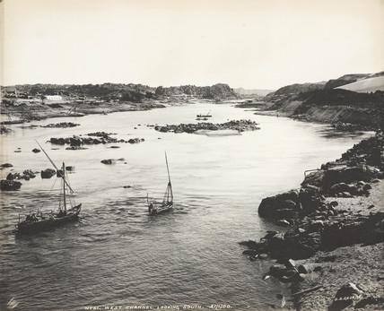 'West channel, looking south', Aswan, Egypt, January 1900.