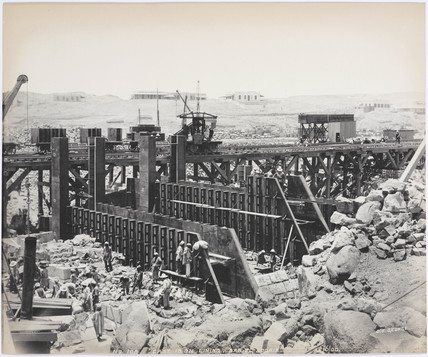 'Cast iron lining, Bab el Sogair', Aswan Egypt, June 1900.