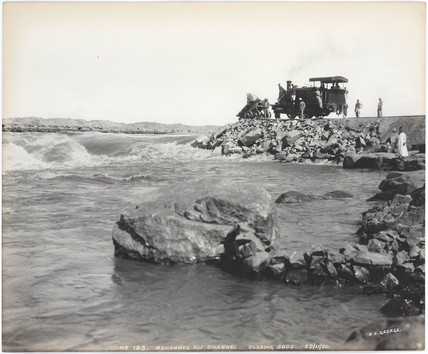 'Mohammed Ali channel, closing sudd', Aswan, Egypt, November 1900.