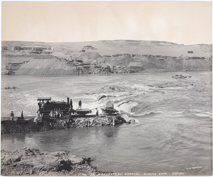 'Mohammed Ali channel, closing sudd', Aswan, Egypt, November 1900.